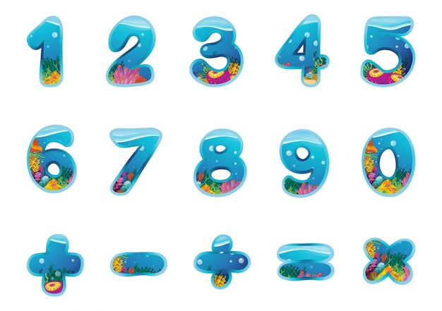숫자와 표시 무료 벡터