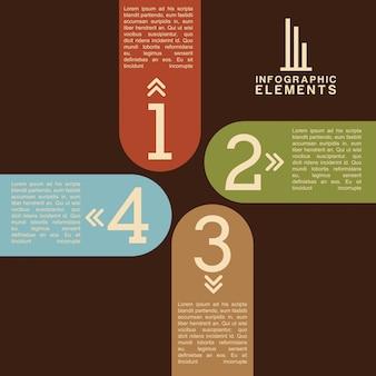 Дизайн чисел на коричневом фоне векторные иллюстрации