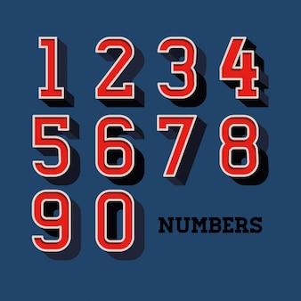 数字のデザイン