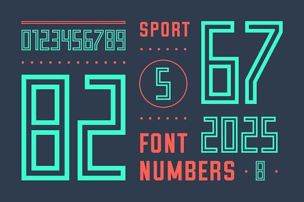 Шрифт чисел