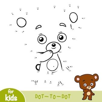 ナンバーゲーム、子供向けの教育ドットツードットゲーム、クマ