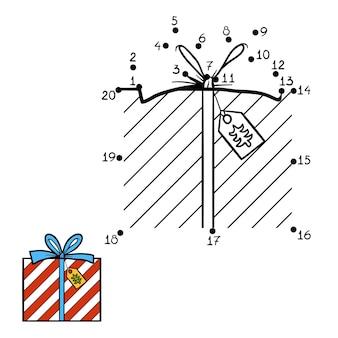 숫자 게임, 어린이를 위한 교육용 도트 투 도트 게임, 크리스마스 선물
