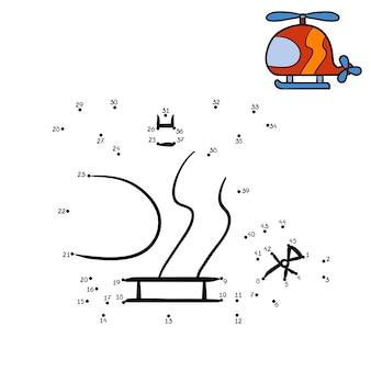 Игра с числами, обучающая игра для детей, вертолет