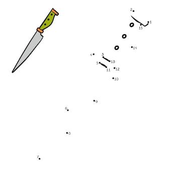 숫자 게임, 어린이를 위한 교육용 도트 투 도트 게임, 칼