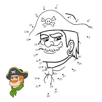 ナンバーゲーム、子供向けの教育ドットツードットゲーム、海賊