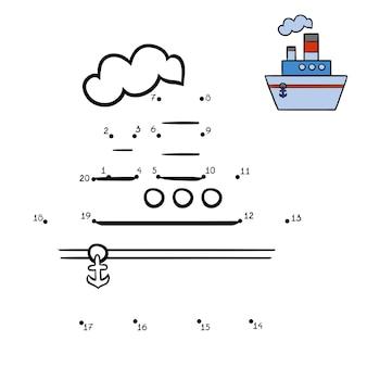 숫자 게임, 어린이를 위한 교육용 도트 투 도트 게임, steamship