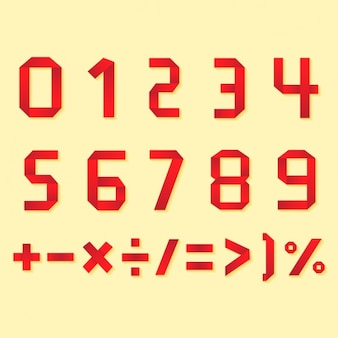 Numbers and symbols design