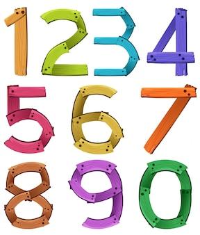 Numbers zero to nine