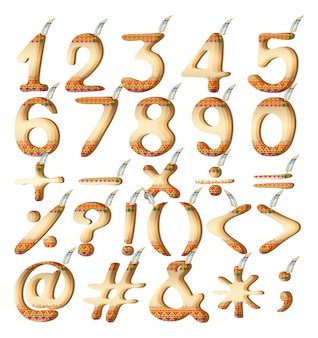 Numeric figures in indian artwork
