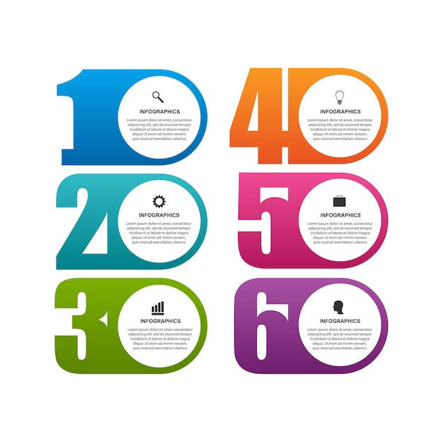 Numeric infographic template or information banner
