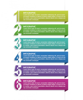 Numeric infographic template for presentations.
