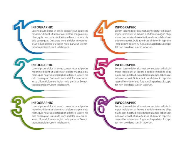 Numeric infographic template