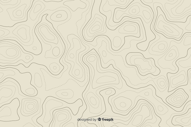 Numerous tangled  topographic lines