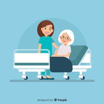Nurse helping patient background
