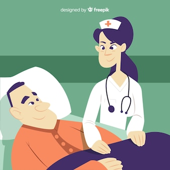 Nurse helping patient background