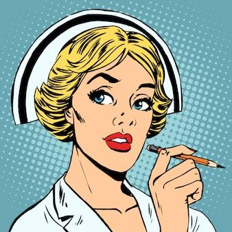 Медсестра пишет диагноз