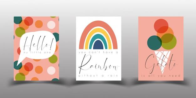 Nursery poster or birthday card templates