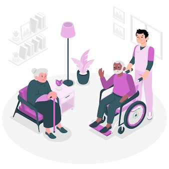 Nursing home concept illustration