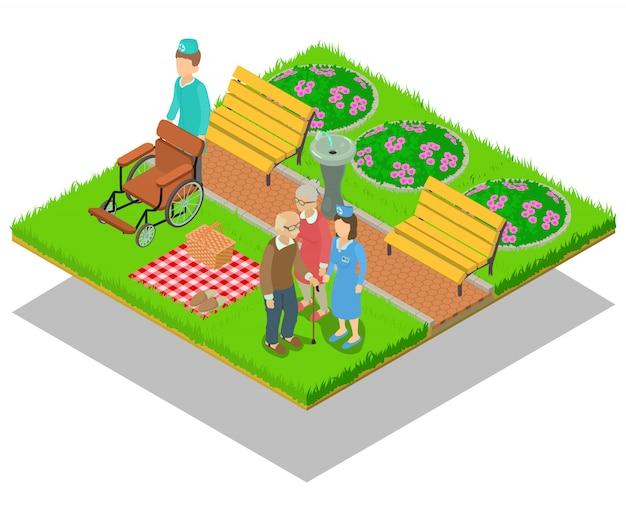 Nursing home concept scene