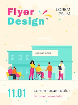 Nursing home residents flyer template