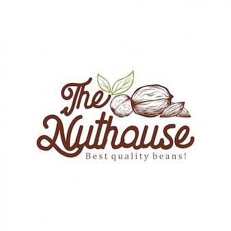 The nut house logo design