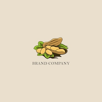 Nut illustration logo