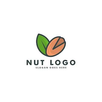 Иллюстрация шаблона дизайна логотипа ореха