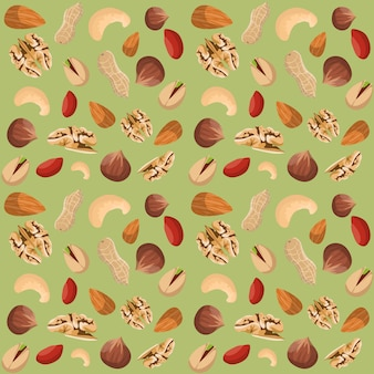 Nut mix seamless pattern