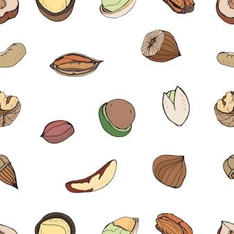 Nut seamless pattern