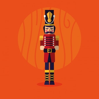 Nutcracker soldier toy icon