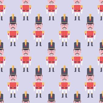Nutcracker vector seamless pattern