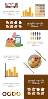 영양 및 식품 갈색 infographic