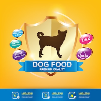 Nutrition for Pet Foods Product Vector