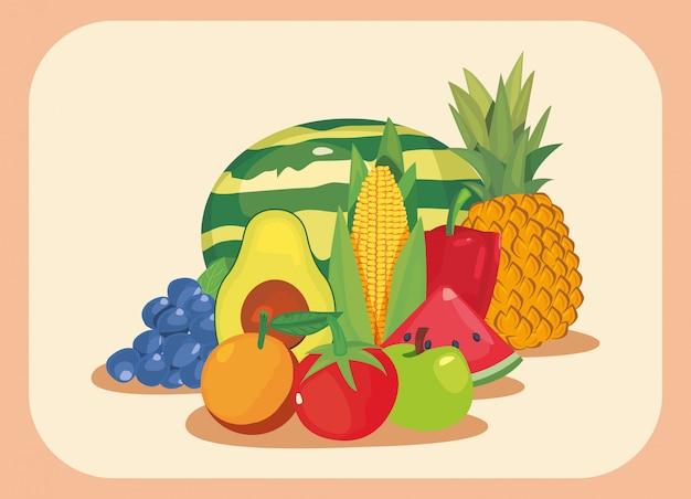Nutrition fresh fruit and vegetables