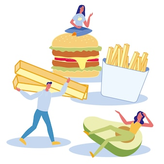 Nutrition preferences flat illustration