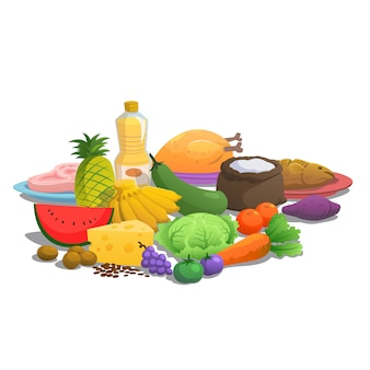 Nutrition principles of food to eat.