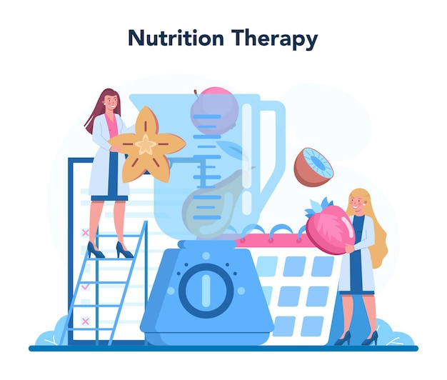 Nutrition therapy with healthy food
