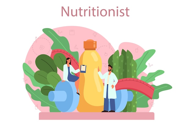 Nutritionist concept
