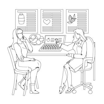 栄養士が患者に相談する