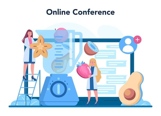 Онлайн-сервис или платформа диетолога. диетотерапия