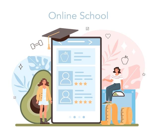 Nutritionist online service or platform
