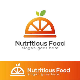Nutritious and healthy food menu logo