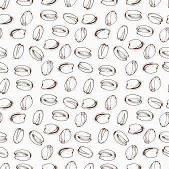 手描きのナッツシームレスパターン