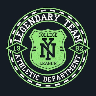 Ny new york vintage graphic for tshirt original clothes design with grunge and shield