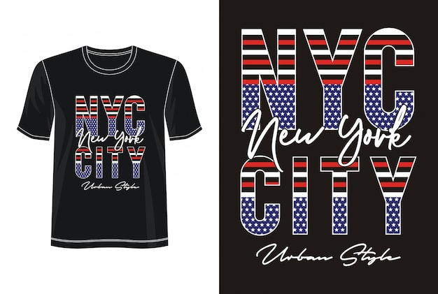 Nyc city typography for print t shirt