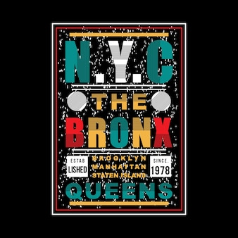 Nyc colorful abstract graphic typography c vector design