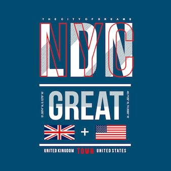 Nyc/london greatest city design for printing t shirt