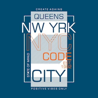 Nyc state of mind for t shirt design