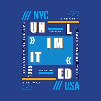 티셔츠 인쇄를위한 뉴욕 타이포그래피
