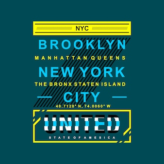 Nyc united states graphic city name